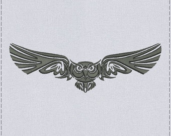 Owl Machine embroidery design - 2 sizes for instant download