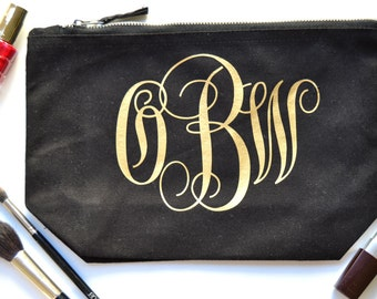 Monogrammed Makeup Bag | Monogrammed Toiletry Bags | Monogrammed Gifts | Monogrammed Cosmetic Bag | Personalized Toiletry Bags