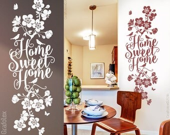 Wall decals home sweet home wall sticker wall sticker home family cherry blossom branch branch bleed flower flowers wall decoration living room ws18a