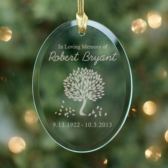 Personalized Memorial ornament Personalized Tree of