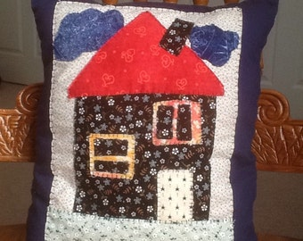 Fairy House Patch Pillow