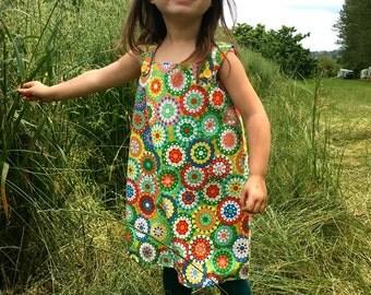 1968 Style pinafore dress Age 4-5
