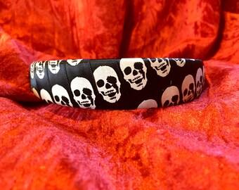 Black and White Skull Headband