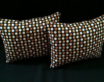 Halloween Polka Dot Decorative Pillow