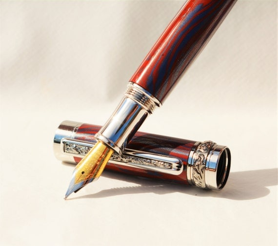 Fountain Pen Handcrafted Pen One Of A Kind Gift