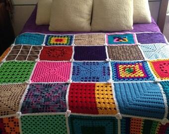 Woven bedspreads to crochet