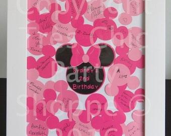Minnie or Mickey Guest Book Alternative