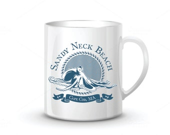 Octopus Cape Cod Beach Mug (custom design)