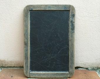 Vintage Childs blackboard,slate chalk board,old school house, french wood 13