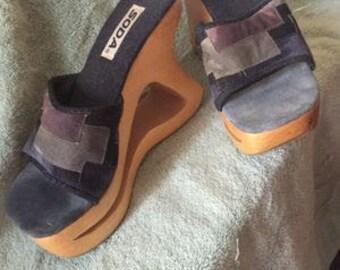 Vintage SODA Platform Sandals 7.5