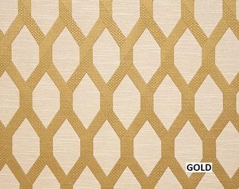Upholstery/Drapery Jacquard Fabric Santana 100 Gold By The Yard