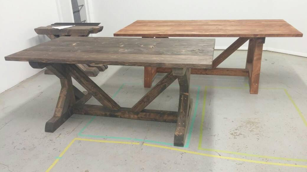 Fancy X Reclaimed Wood Table Farmhouse Table Rustic Dining
