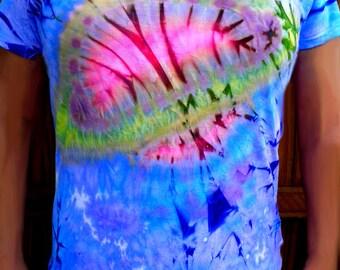 Saturn Solar System Batik Tie Dye Unique 1 Off T-shirt