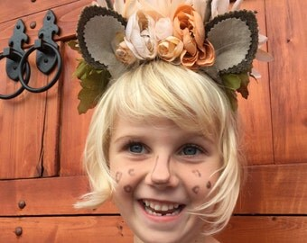 Reindeer Headband, Deer Headband, Antler Headband, Woodland Headband, Antler Headpiece, Deer Antler Headpiece, Deer Antler Headdress