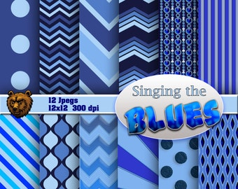 Singing the Blues, digital download, background, scrapbooking, digital paper