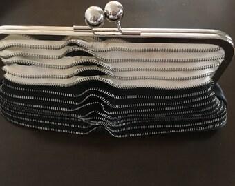 Vintage evening zipper clutch