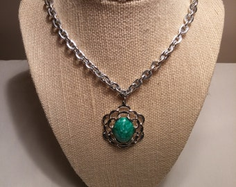 "24 ""Sarah Coventry Necklace with Pendant FREE SHIPPING!"