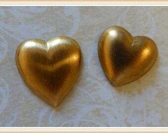 raw brass heart embellisment E 0035