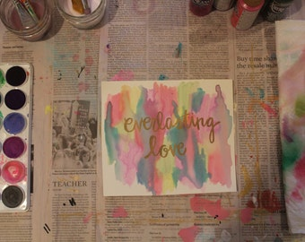 """6"""" x 7"""" Watercolor Print - """"Everlasting Love"""""""