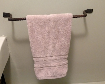 Rustic Rebar Towel Bar