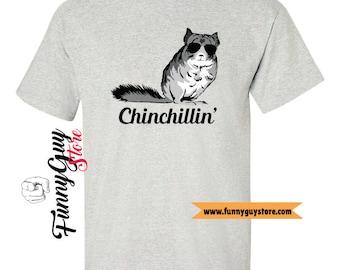 Chinchilla T-shirt Chinchillin' Chinchilla Art Funny Gift Funny Tshirt