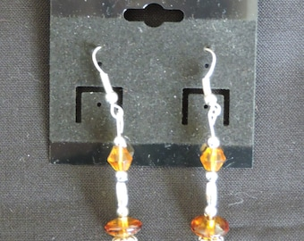 Amber/Silver Earrings
