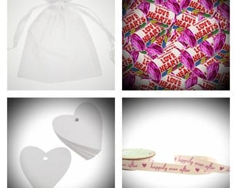 100 Ready-made Sweetie Wedding Favours. FREE SHIPPING.