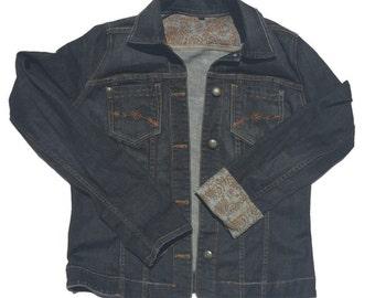 Women's Denim Jean Jacket Size Large