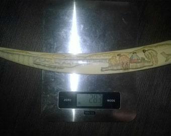 Walrus Tusk Pinting 289 Grams.