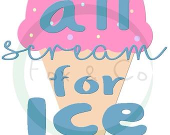 We All Scream for Ice Cream Print