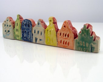 Houses - miniature pottery houses, Ceramic houses, Small clay houses, Tiny house.