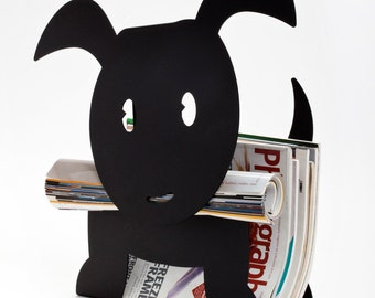 Ringo - dog shaped magazine holder - Black