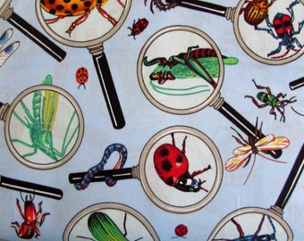 Magnified Insects Fabric