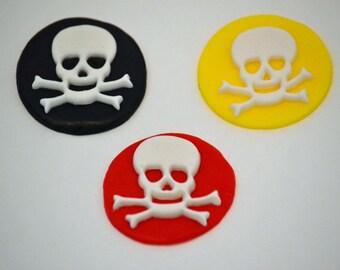 Skull and Crossbones Cupcake Toppers/Fondant