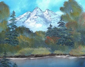 Grow- original mountain oil painting on canvas