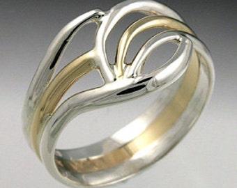 Heavy Three Band Ring