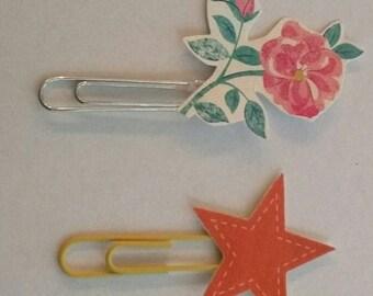 4 cute paper clips