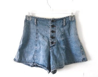 VINTAGE High Rise Shorts Made in the USA