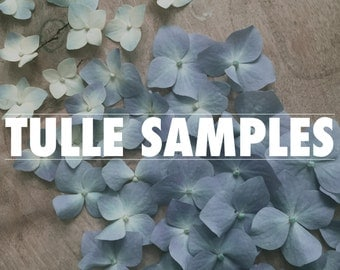 TULLE SAMPLES | Tulle swatches | colour samples | veil swatches