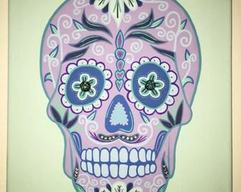 Custom Sugar Skull Canvas
