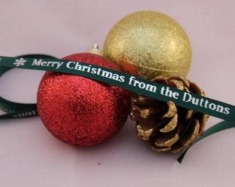 Personalised 10mm Ribbon, Satin Ribbon, Etsy Shop Ribbon, Birthday Ribbon, Christmas Ribbon, Shop Promotion Accessories