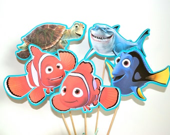 Finding NEMO Set of 5 Centerpiece Picks (Double-Sided)