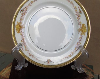 Limoges - Floral and Bird Dessert Plate