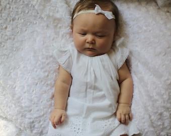 White Infant Bow