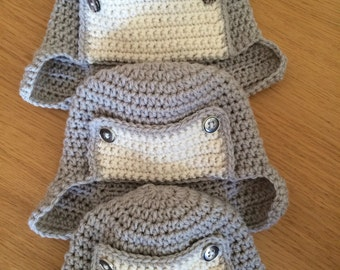 Crocheted Child's Trapper Hat