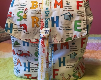 Happy Swoon Backpack! Inspired by Dr Seuss!