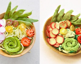 Polymer clay miniature food