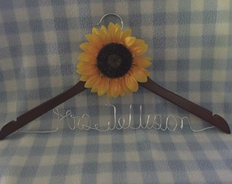 Sunflower Wedding Gown Hanger