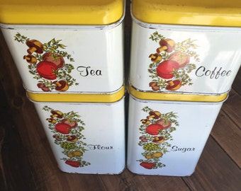 Vintage Cheinco Tin Canister Set