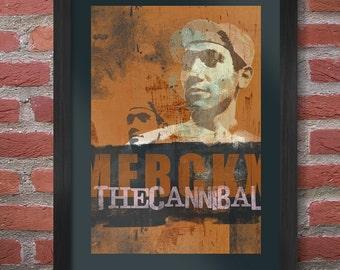 Eddy Merckx Cycling Poster Print